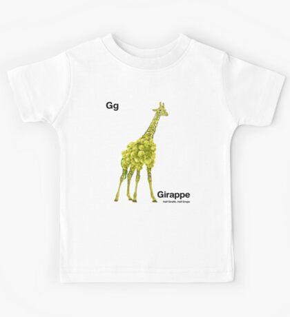 Gg - Girappe // Half Giraffe, Half Grape Kids Tee