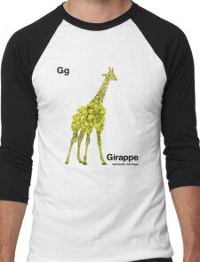 Gg - Girappe // Half Giraffe, Half Grape Men's Baseball ¾ T-Shirt