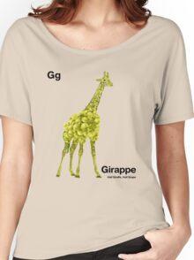 Gg - Girappe // Half Giraffe, Half Grape Women's Relaxed Fit T-Shirt