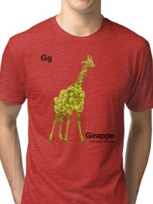 Gg - Girappe // Half Giraffe, Half Grape Tri-blend T-Shirt