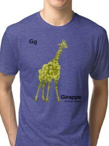 Gg - Girappe // Half Giraffe, Half Grape Tri-blend T-Shirt