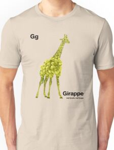 Gg - Girappe // Half Giraffe, Half Grape Unisex T-Shirt