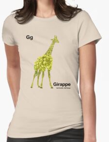 Gg - Girappe // Half Giraffe, Half Grape Womens Fitted T-Shirt