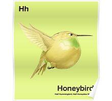 Hh - Honeybird // Half Hummingbird, Half Honeydew Melon Poster