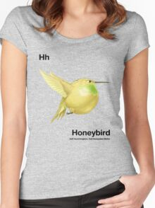 Hh - Honeybird // Half Hummingbird, Half Honeydew Melon Women's Fitted Scoop T-Shirt