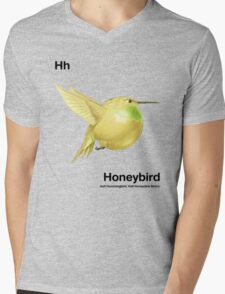 Hh - Honeybird // Half Hummingbird, Half Honeydew Melon Mens V-Neck T-Shirt