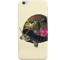 """Born to Chill"" Full Metal Snail Turtle iPhone Case/Skin"