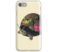 """""""Born to Chill"""" Full Metal Snail Turtle iPhone Case/Skin"""