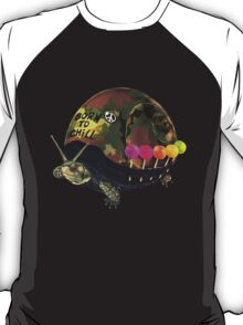 """""""Born to Chill"""" Full Metal Snail Turtle T-Shirt"""