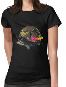 """""""Born to Chill"""" Full Metal Snail Turtle Womens Fitted T-Shirt"""