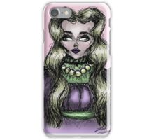 Gothic Pastel Pale Woman  iPhone Case/Skin