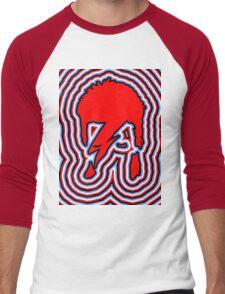 DAVID BOWIE - LIGHTNING BOLT Men's Baseball ¾ T-Shirt