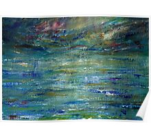 Abstract Seascape #1 Poster
