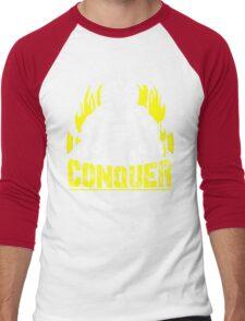 CONQUER - Broly Dumbbell Vintage Motivation Men's Baseball ¾ T-Shirt