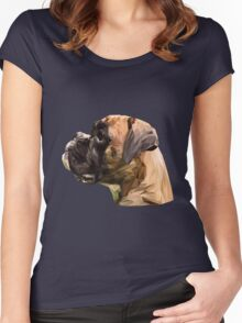 Boxer low poly. Women's Fitted Scoop T-Shirt