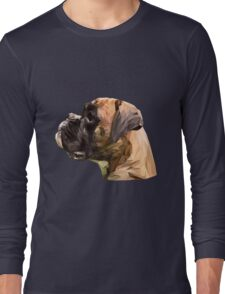 Boxer low poly. Long Sleeve T-Shirt