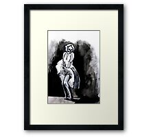 Skeleton Itch Framed Print