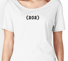 Area Code 202 t-shirt (WHITE) Women's Relaxed Fit T-Shirt