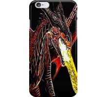 Big Red Angry Fire Breathing Fractal Dragon Design iPhone Case/Skin