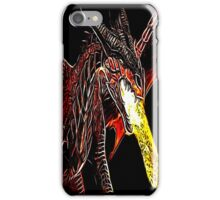 Toothless Fire Breathing Night Fury Fractal Dragon Design iPhone Case/Skin