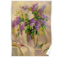 A bouquet of lilacs Poster