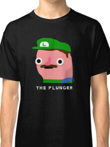 The Plunger  (white text) Classic T-Shirt