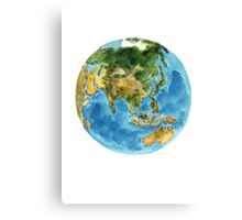 World Map Planet Earth Watercolor Painting Illustration Poster Canvas Print
