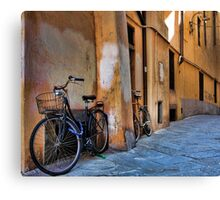 A Quiet Village Street - Lucca,  Italy Canvas Print