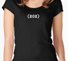 Area Code 202 t-shirt (BLACK) Women's Fitted Scoop T-Shirt