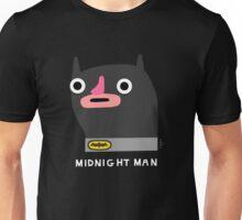 Midnight man (white text) Unisex T-Shirt