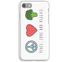 Peace, Love and Veggies iPhone Case/Skin