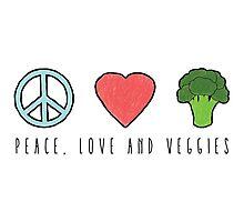 Peace, Love and Veggies Photographic Print