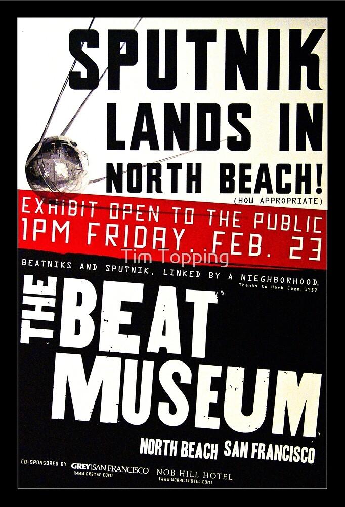 Sputnik Beat Poster by Tim Topping