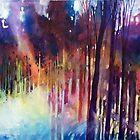 Lampi di luce nella forest by Alessandro Andreuccetti