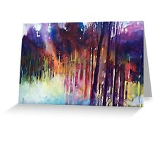 Lampi di luce nella forest Greeting Card