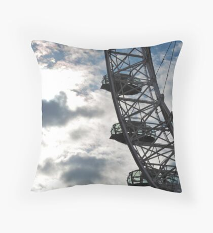 Up high on the London Eye Throw Pillow