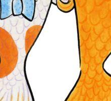 Goldfish Wedding Couple Sticker