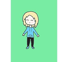 Alice Chibi with green background Photographic Print