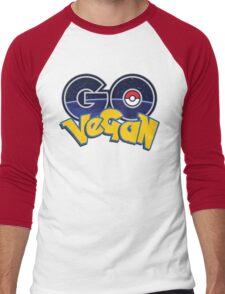 PokemonGo Vegan Men's Baseball ¾ T-Shirt