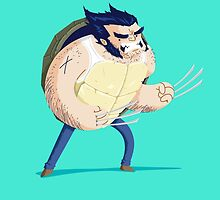 Heroes in a Half Shell: Wolverine by danielspreitzer