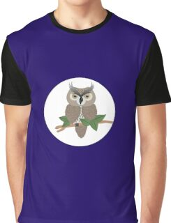 AFE Owl Illustration Graphic T-Shirt