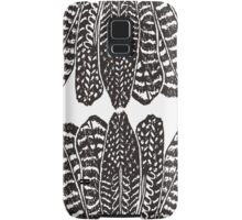 Tribal Feathers  Black Samsung Galaxy Case/Skin