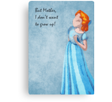 Peter Pan inspired design (Wendy) Canvas Print
