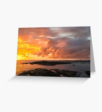 Sunset at Sanna Bay Greeting Card