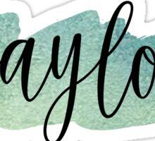 Baylor Watercolor Sticker