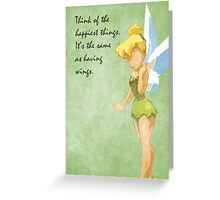 Peter Pan inspired design (Tinkerbell). Greeting Card