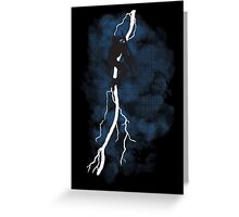 The Dark Raiden Rising Greeting Card