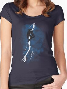 The Dark Raiden Rising Women's Fitted Scoop T-Shirt