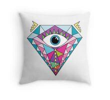 Diamante illuminati Throw Pillow