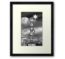 Motel Sign Framed Print